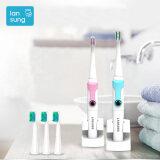 แปรงสีฟันไฟฟ้า ทำความสะอาดทุกซี่ฟันอย่างหมดจด ตาก Ultrasonic toothbrush oral hygiene Electronic toothbrush Baby electric tooth brush lansung SN902 Sonic electric toothbrush 5