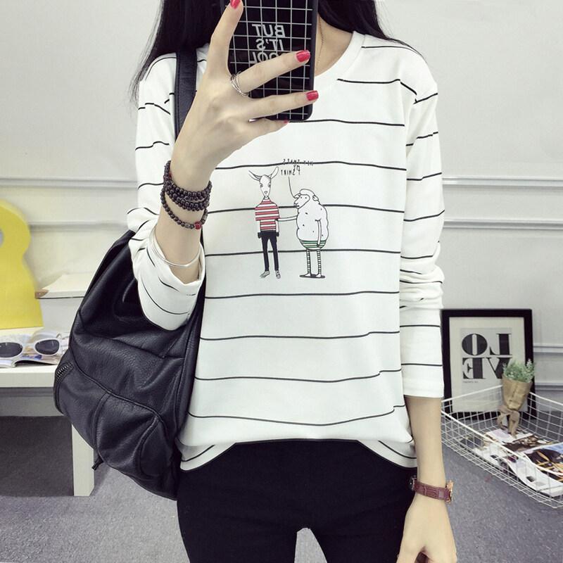 หลวมใหม่หลาใหญ่เสื้อแขนยาวผู้หญิงเสื้อยืด (173 * * * * * * * สีรูปภาพ)