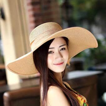 199 หมวกปีกกว้าง หมวกกันแดด หมวกพกพา หมวกพับเก็บได้ หมวกผู้หญิงหมวกแฟชั่นสตรี หมวกไปทะเล หมวกมีปีก หมวกเที่ยวทะเล หมวกสานหมวกปานามาสานปีกกว้าง หมวกชายทะเล หมวกปีกกว้างตกแต่งโบว์หมวกเเฟชั่นสไตล์ญี่ปุ่น