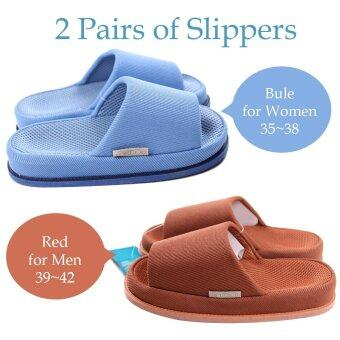 2 Pairs Japanese Couple Lover Thickening Massage Shoes Massage Slipper Sandals - intl