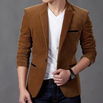 2016 Brand Men's Fashion Blazer British Style Casual Slim Fit Men's Suit Jacket Blazers Men's Coat Terno Masculino Plus Size 4XL - intl