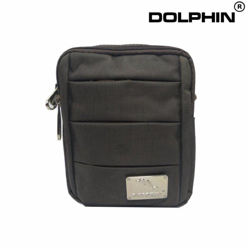 2017 แฟชั่น กระเป๋าสะพายข้าง สี น้ำตาล แบรนด์ DOLPHIN BAG รุ่น D-102
