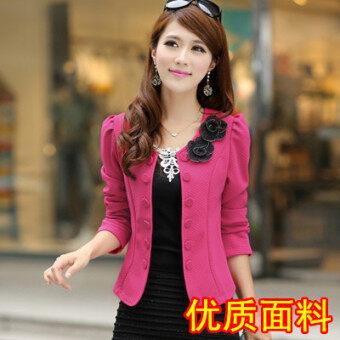 เสื้อสูทผู้หญิงใส่ทำงาน ใหม่ 2017 (ดอกกุหลาบสีแดงที่มีคุณภาพสูง [Edition])