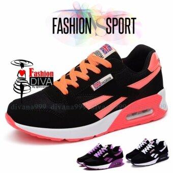 ซื้อ/ขาย 2017 Fashion DIVA รองเท้าสปอร์ตลำลอง สไตล์เกาหลี ลายเส้น