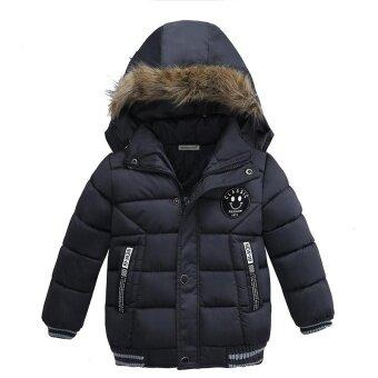 2017 ใหม่เด็กเสื้อกันหนาวเด็กฤดูหนาวที่อบอุ่น Outerwear Hooded แฟชั่นเด็กลงแจ็คเก็ต Boys Girls ฝ้ายเสื้อ