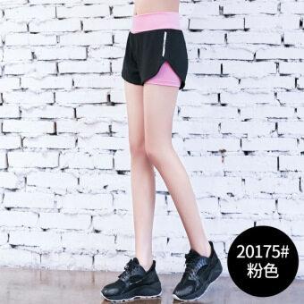 อบแห้งอย่างรวดเร็วฝึกอบรมกางเกงโยคะ (20175 # สีชมพูกางเกงขาสั้น)