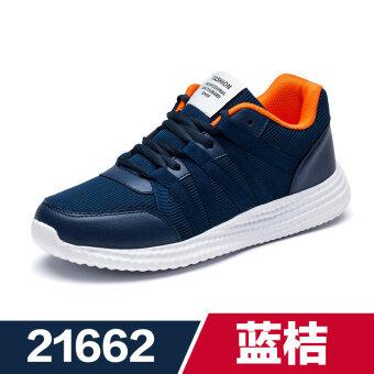 สบายๆเด็กชายรองเท้าวิ่งรองเท้าผู้ชาย (21662 สีฟ้าสีส้ม)