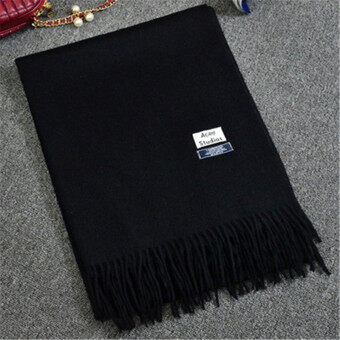 2Pcs Autumn Winter Spring Fashion style Wool Scarf/scarves/cappa/tippet/shawl for women/ladies/girls Camel+Black
