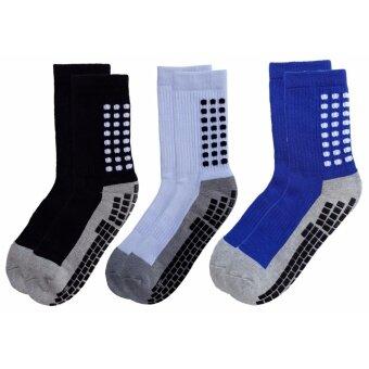ถุงเท้ากีฬา ถุงเท้ากันลื่น ถุงเท้าฟุตบอล ถุงเท้าโยคะ และกีฬาต่างๆ แพ็ค 3 คู่