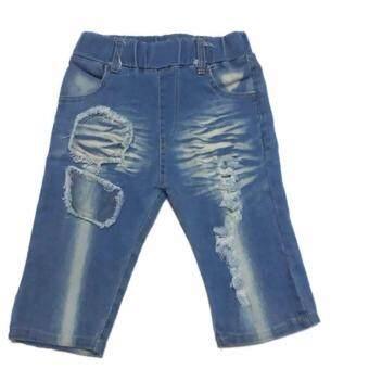 กางเกงยีนส์ผ้าฟอก 3 ส่วน