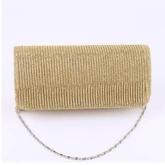 Hennes Drape Handbag New Dinner Handbag Tide One Shoulder Evening Bags Lady Bag - Gold