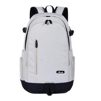 ชายโรงเรียนมัธยมกระเป๋านักเรียนกระเป๋าสะพายไหล่ (สีเทา 50 cm * 32 cm * 18 cm)