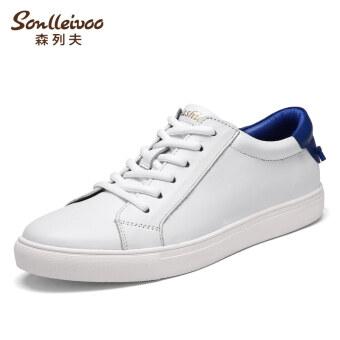น้ำชายลำลองชายฤดูใบไม้ร่วงใหม่รองเท้าสีขาวรองเท้าสีขาว (5337-สีขาวและสีฟ้า)