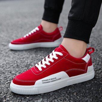 ใหม่ผู้ชายเกาหลีรองเท้าลำลองผู้ชาย (7277 สีแดง)