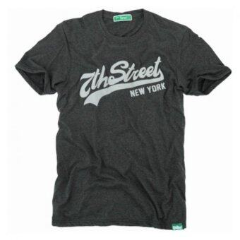 7th Street Graphic T-Shirt - สีเทาดำ