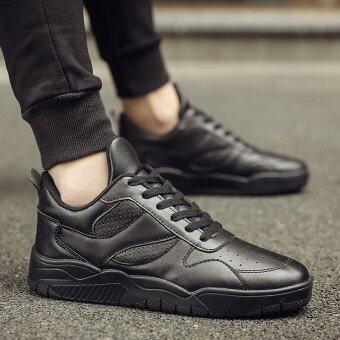 เวอร์ชั่นเกาหลีใหม่ของรองเท้าผู้ชาย (8711 (ส่วนแผนที่หลัก) สีดำ)