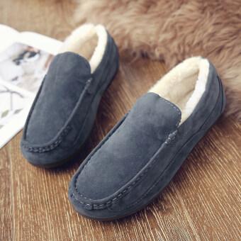 เกาหลีใหม่ฤดูหนาวรองเท้าชาย (9901 (ผู้ชายตั้งเท้า) สีเทา)
