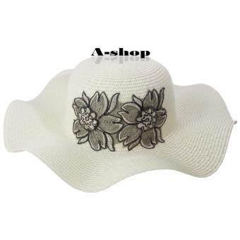 A-shop หมวกสาน ลายลูกไม้ หมวกแฟชั่น ผู้หญิง Hat085-01