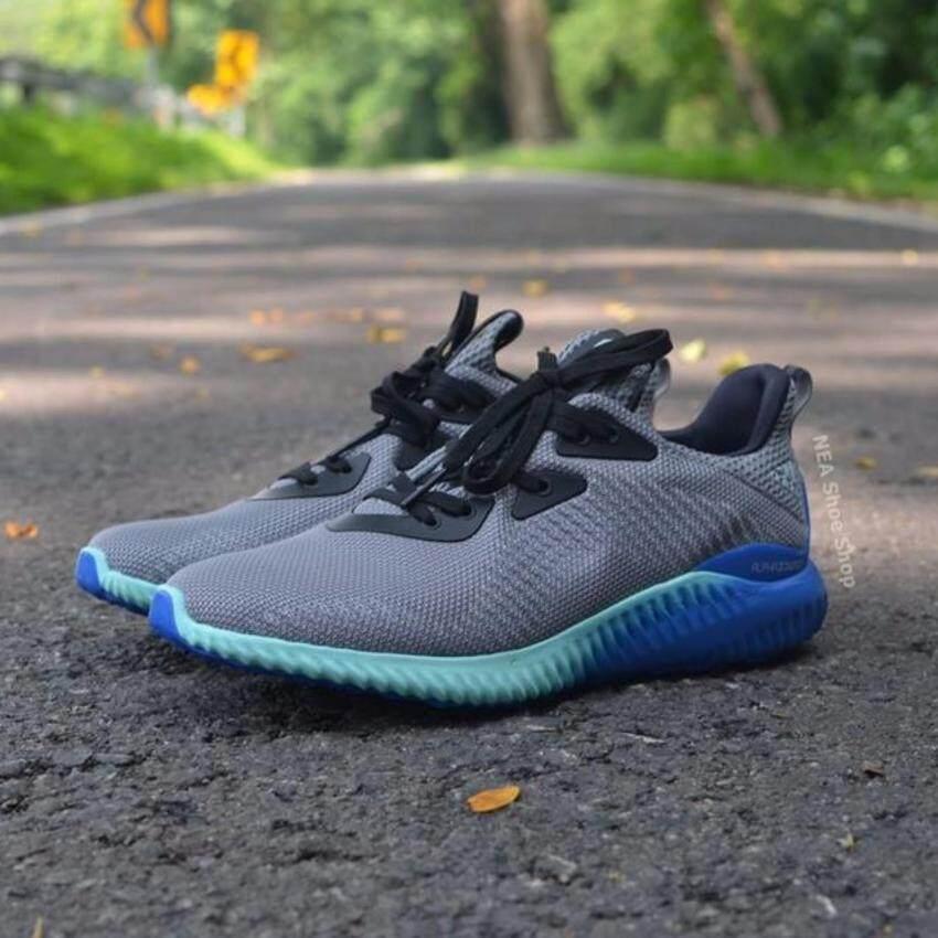 เปรียบเทียบราคา Adidas Alphabounce 1 m Grey/Aqua รุ่น BB9035 - สีเทา