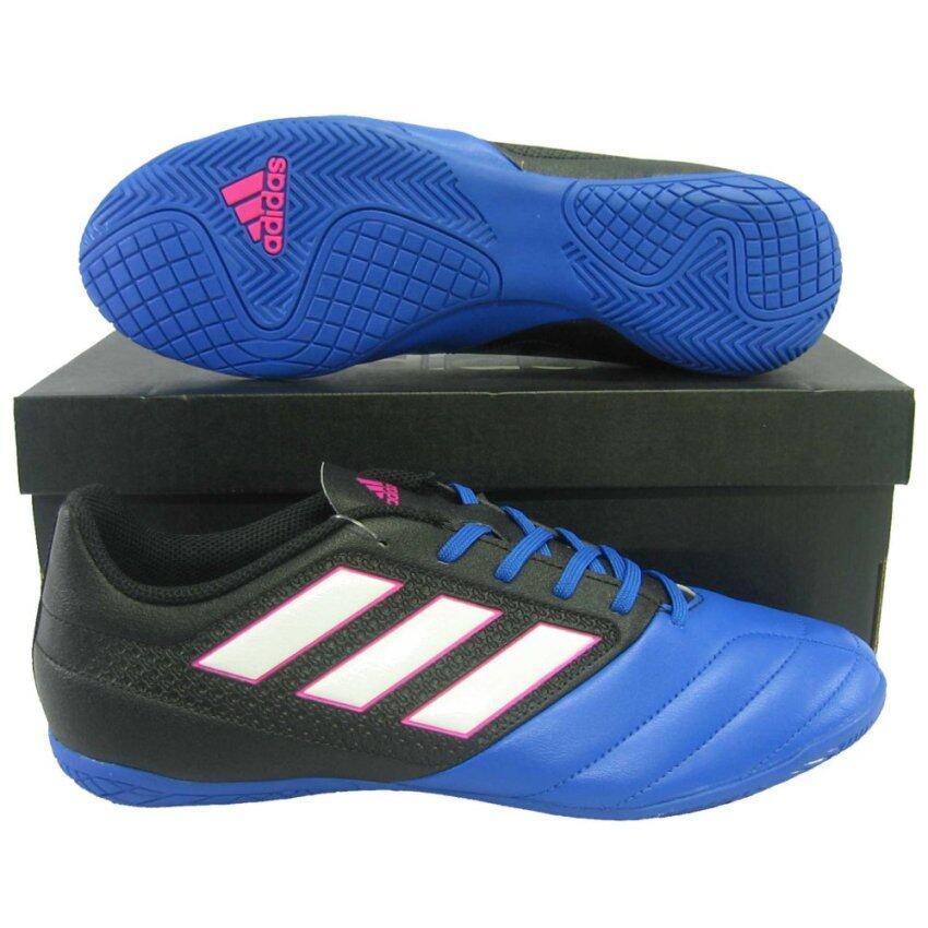 รองเท้ากีฬา รองเท้าฟุตซอล adidas BB-1767 ACE 17.4 IN ดำน้ำเงิน