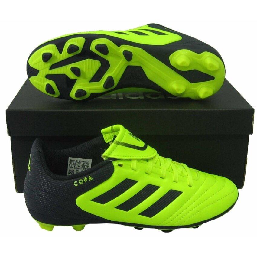รองเท้ากีฬา รองเท้าสตั๊ดเด็ก Adidas BY-1586 COPA 17.4 FxG J เขียวตอง UK-1
