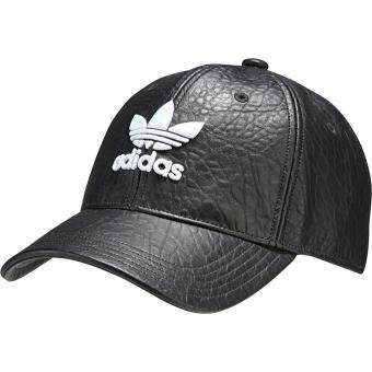 Adidas Originals BK6967 Crackled Leather Logo Cap (Black)