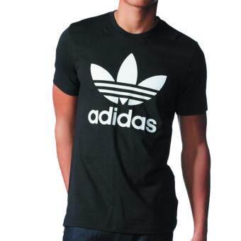 adidas originals trefoil tee aj8830 black 1501909370 56455373 0943ebbe1fbd3b547dd006156750a24b product ซื้อ ADIDAS ORIGINALS TREFOIL TEE AJ8830  Black