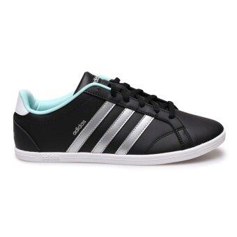 ADIDAS WOMEN รองเท้าผ้าใบ ผู้หญิง รุ่น VS CONEO QT W - BB9647(CBLACK/MSILVE/ENEAQN) - 2