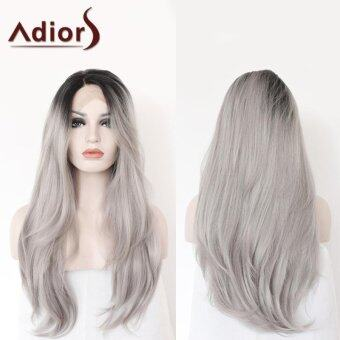 Adiors Long Side Parting Colormix Straight Lace Front Synthetic Wig(Colormix) - intl