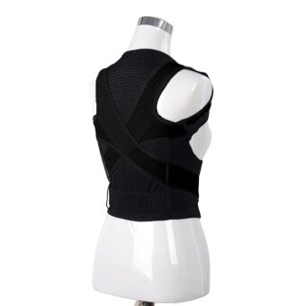 Harga Adjustable Breathable Back Shoulder Support Brace Posture CorrectorCorrection Belt for Adults Kids Men Women Preventing Hunchback SizeM - intl