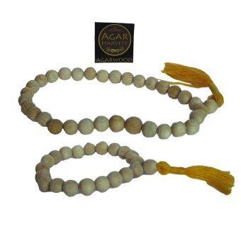 AgarHarvest ชุดสร้อยคอ ไม้กฤษณา(33 beads) และสร้อยข้อมือ (20 beads)กำไล ลูกประคำ มาลา ไม้หอม อโรม่า ไม้หอมมงคล ไม้กฤษณา
