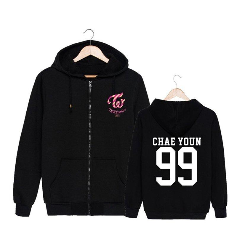 ALIPOP Kpop Korean Fashion TWICE Third Mini Album TWICEcoaster LANE1 CHAE YOUN Cotton Zipper Hoodies Clothes Zip-up Sweatshirts PT290(CHAEYOUN99) - intl