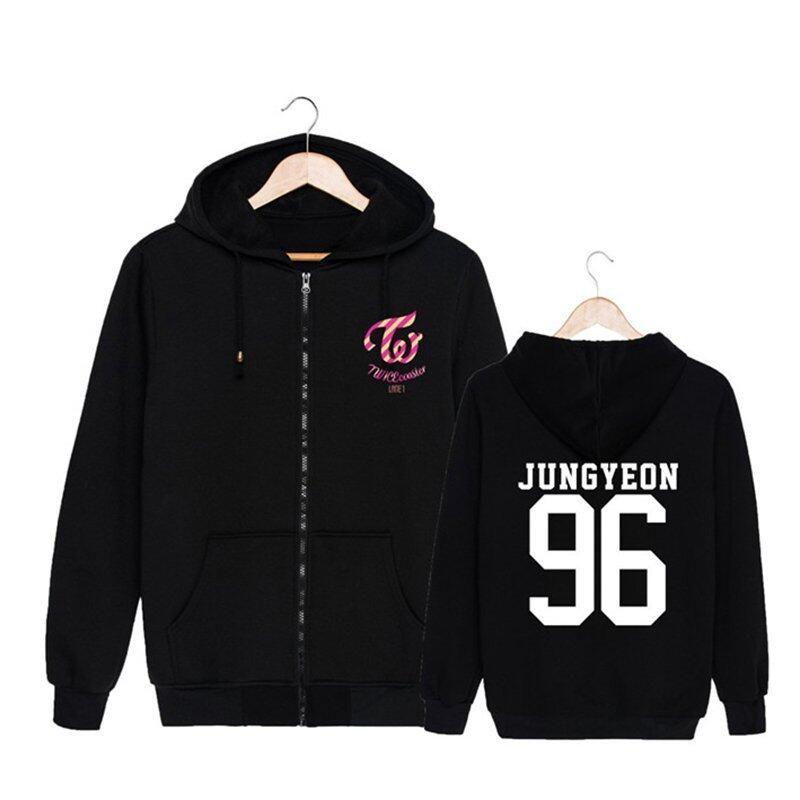 ALIPOP Kpop Korean Fashion TWICE Third Mini Album TWICEcoaster LANE1 Cotton Zipper Hoodies Clothes Zip-up Sweatshirts PT290(JUNGYEON96) - intl