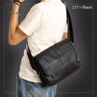 AlldayLT11-Black กระเป๋าสะพายข้าง หนัง PU สีดำ กระเป๋าผู้ชาย