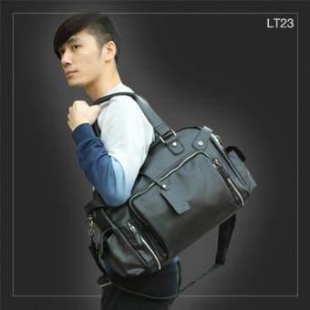 AlldayLT23 กระเป๋าสะพายข้าง หนัง PU สีดำ กระเป๋าผู้ชาย