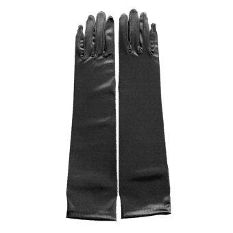 Amart ฝ่ายหญิงเจ้าสาวงานเต้นรำแบบถุงมือถุงมือสีดำ