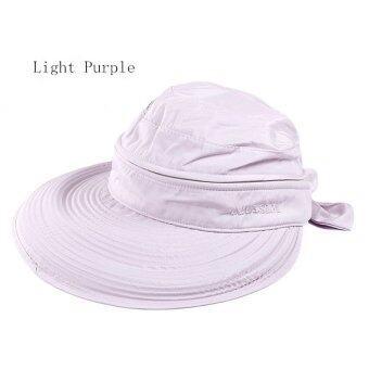 Amart หมวก Cap แฟชั่นซัมเมอร์หาดใหญ่หูกระต่ายหมวกกันแดด (สีม่วง)