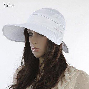 Amart หมวก Cap แฟชั่นซัมเมอร์หาดใหญ่หูกระต่ายหมวกกันแดด (ขาว)