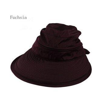 Amart หมวก Cap แฟชั่นซัมเมอร์หาดใหญ่หูกระต่ายหมวกกันแดด บานเย็น)