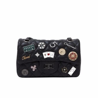 Amiya กระเป๋าถือ กระเป๋าสะพายข้าง กระเป๋าสะพายไหล่ รหัส.816 (สีดำ)