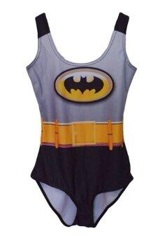 ANA Swimwear Batman Star Digital Printing ชุดว่ายน้ำ ลายแบดแมน (สีดำ)