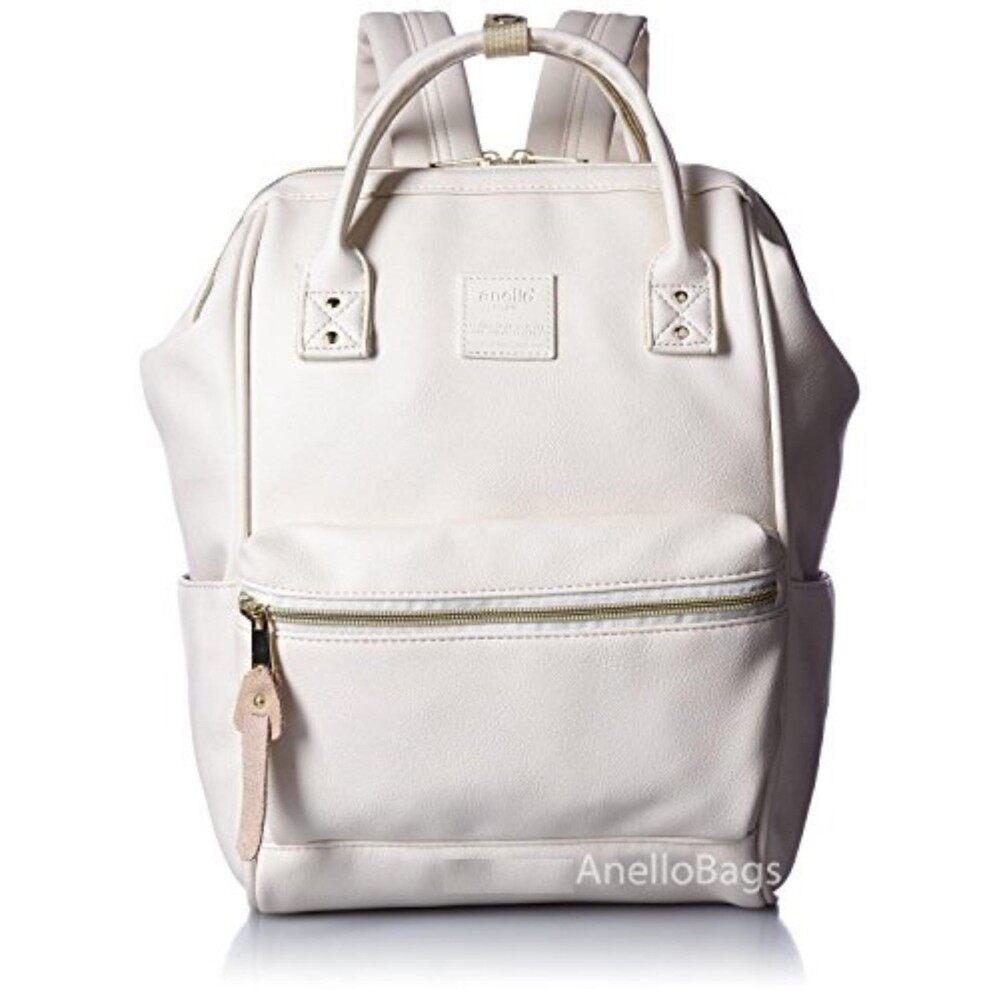 ยี่ห้อไหนดี  ตรัง กระเป๋าเป้สะพายหลัง Anello Backpack Unisex Ivory White (Mini Size) - Japan Imported 100%