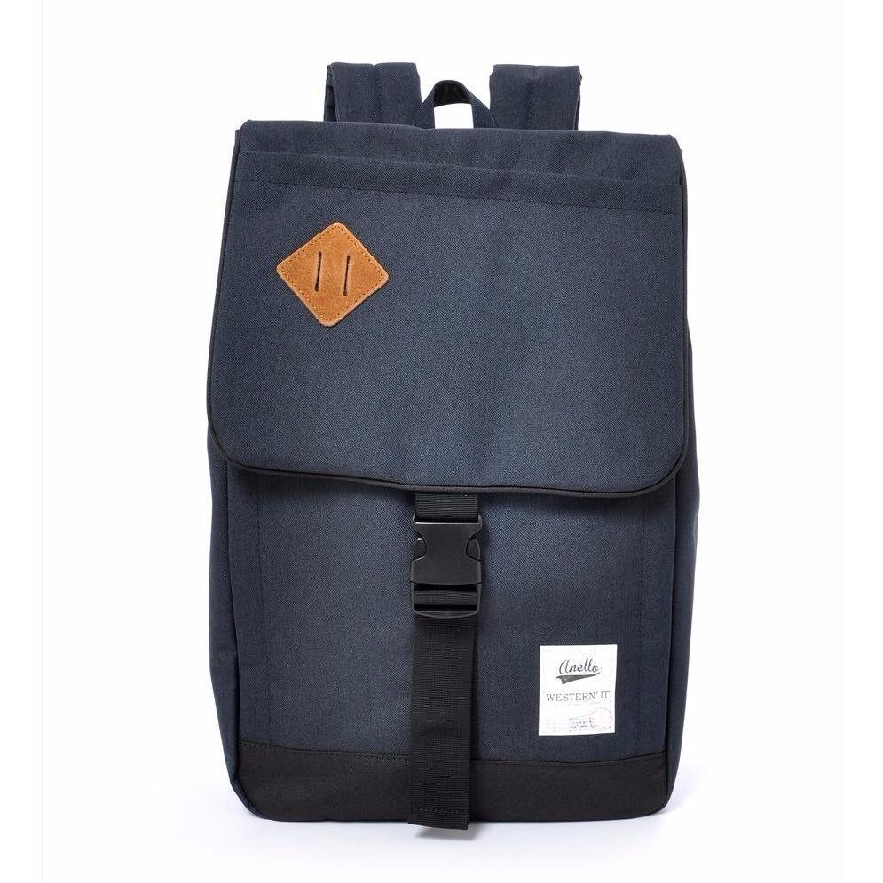 ยี่ห้อนี้ดีไหม  นครพนม กระเป๋าเป้ Anello Buckle Backpack L (20L.) Navy - Japan Imported 100%