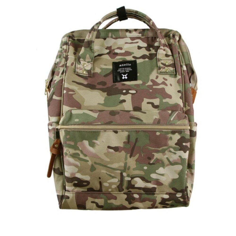 สอนใช้งาน  เพชรบุรี กระเป๋า Anello Canvas Unisex Backpack Camo Khaki (Clasic Size) - Japan Imported 100%