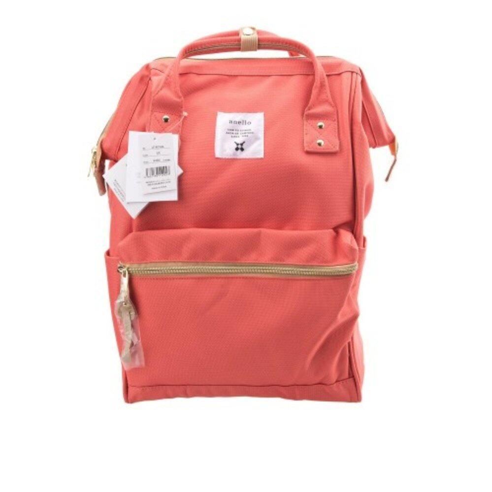 สอนใช้งาน  ตราด กระเป๋า Anello Canvas Unisex Backpack Coral Pink (Classic Size) - Japan Imported 100%
