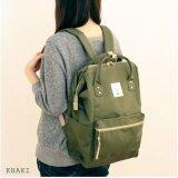 การใช้งาน  ชลบุรี กระเป๋าเป้สะพายหลัง Anello Canvas Unisex Backpack Khaki Mini Japan Imported 100%