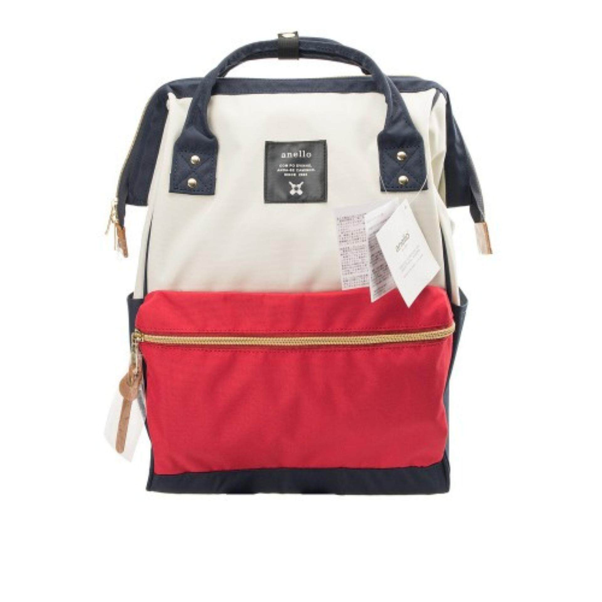 ยี่ห้อไหนดี  นครนายก กระเป๋าเป้สะพายหลัง Anello Canvas Unisex Backpack MIX-F (Classic Size) - Japan Imported 100%