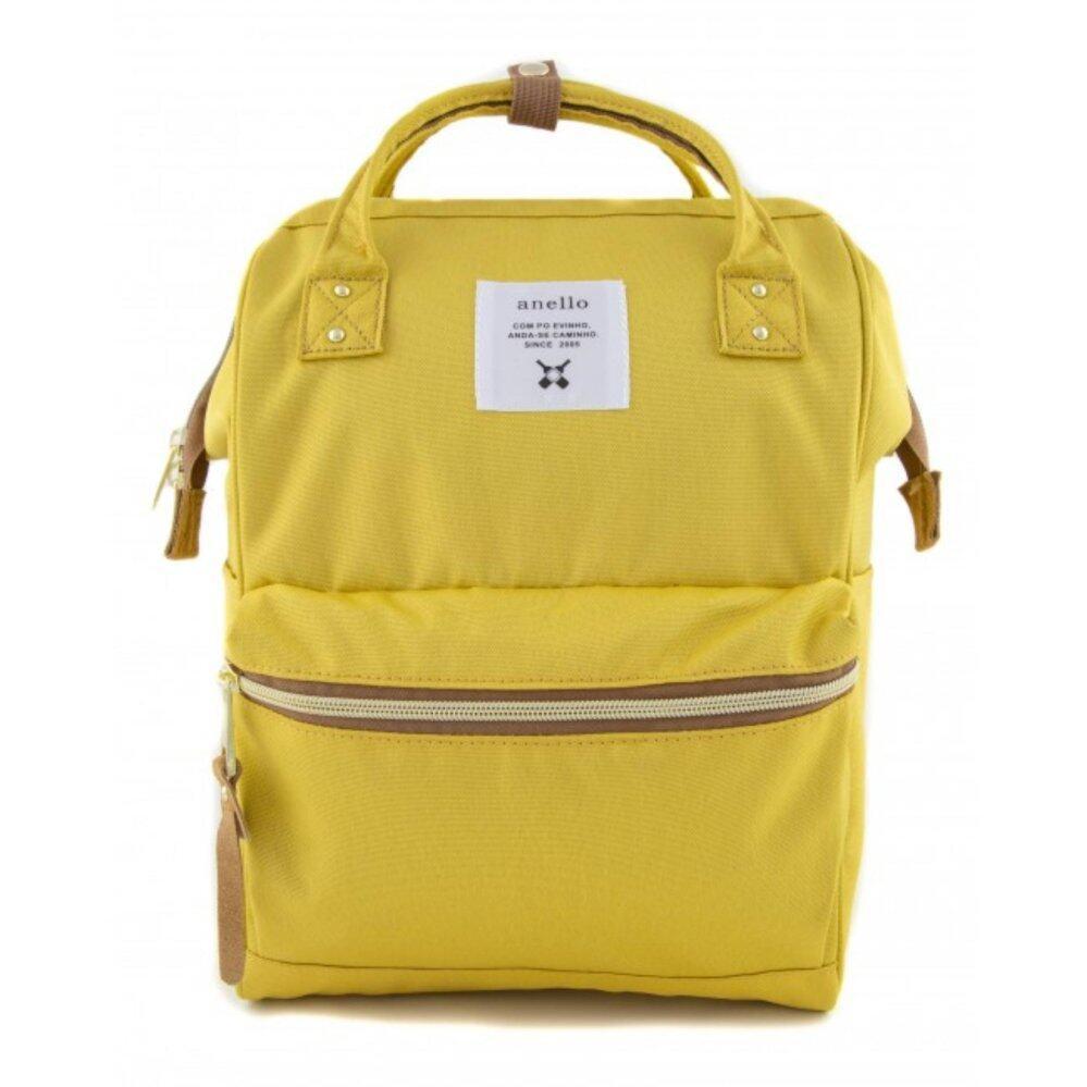 การใช้งาน  เชียงราย กระเป๋าเป้สะพายหลัง Anello Canvas Unisex Backpack Yellow (Classic Size) - Japan Imported 100%