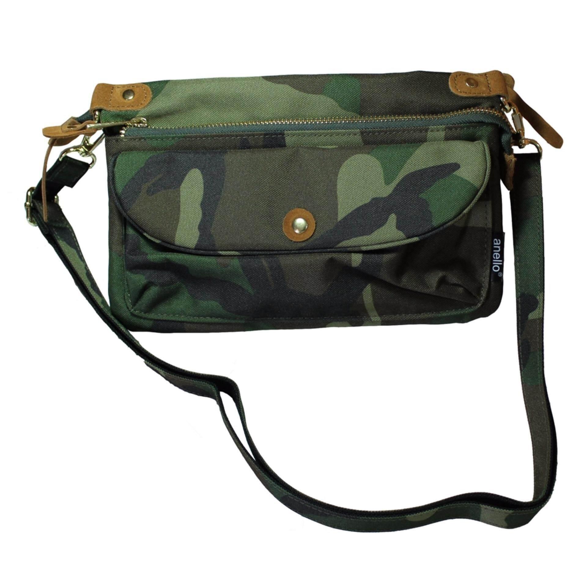 การใช้งาน  ชัยภูมิ Anello กระเป๋าสะพายข้างขนาดเล็ก (Camo)