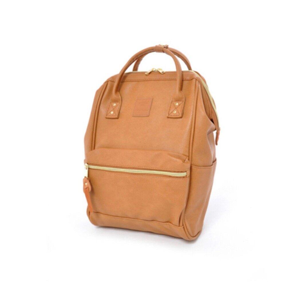 ยี่ห้อนี้ดีไหม  พัทลุง Anello mini Leather Backpack กระเป๋าเป้สะพายหลังขนาดมินิรุ่น B1212-CBE (สีเบจ)
